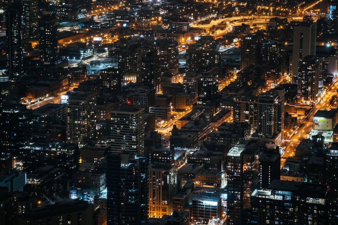 bangunan, cityscape, dari atas