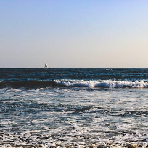 Foto stok gratis gelombang, horison, kapal, laut