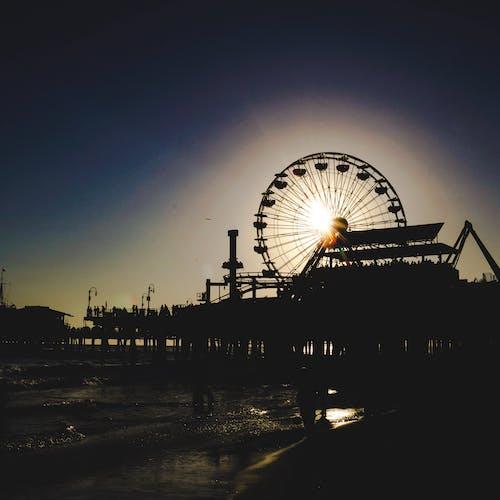 Free stock photo of beach, ferris wheel