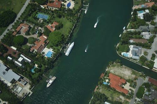 Kostnadsfri bild av antenn, båt, båtar, blå