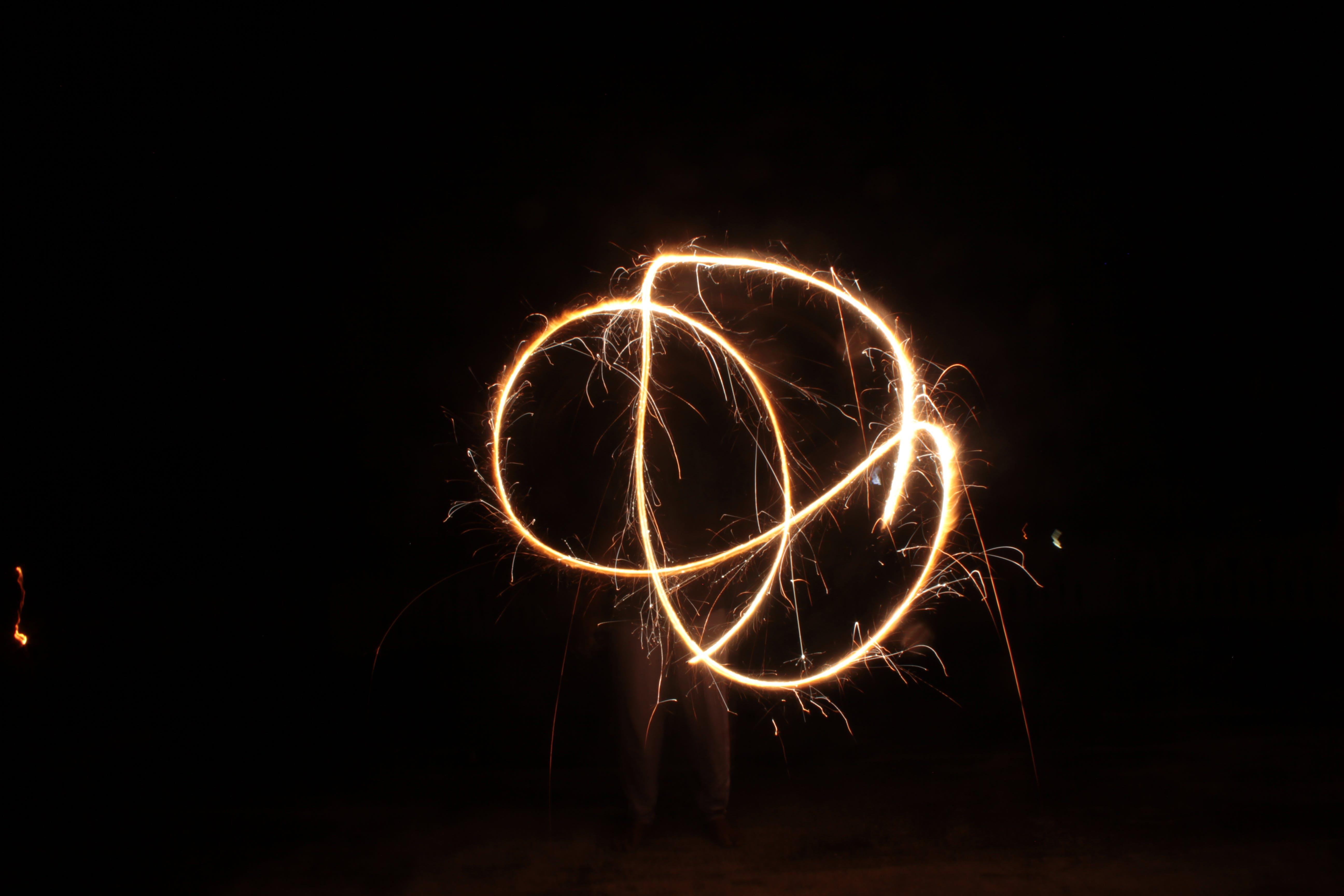 Free stock photo of beautiful, fireworks display, long exposure