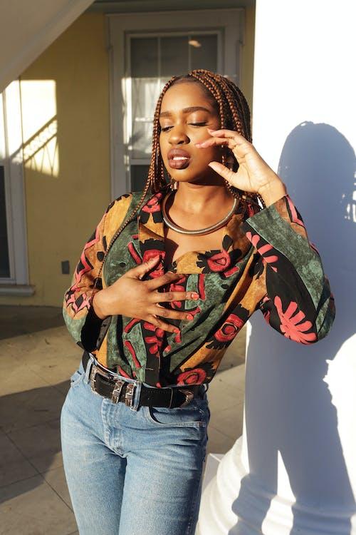 afroamerikaner-frau, farbige frau, fashion