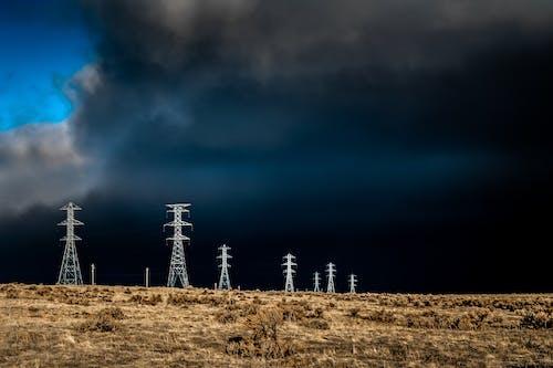 Fotobanka sbezplatnými fotkami na tému búrka, elektrická energia, elektrických vedení, energia