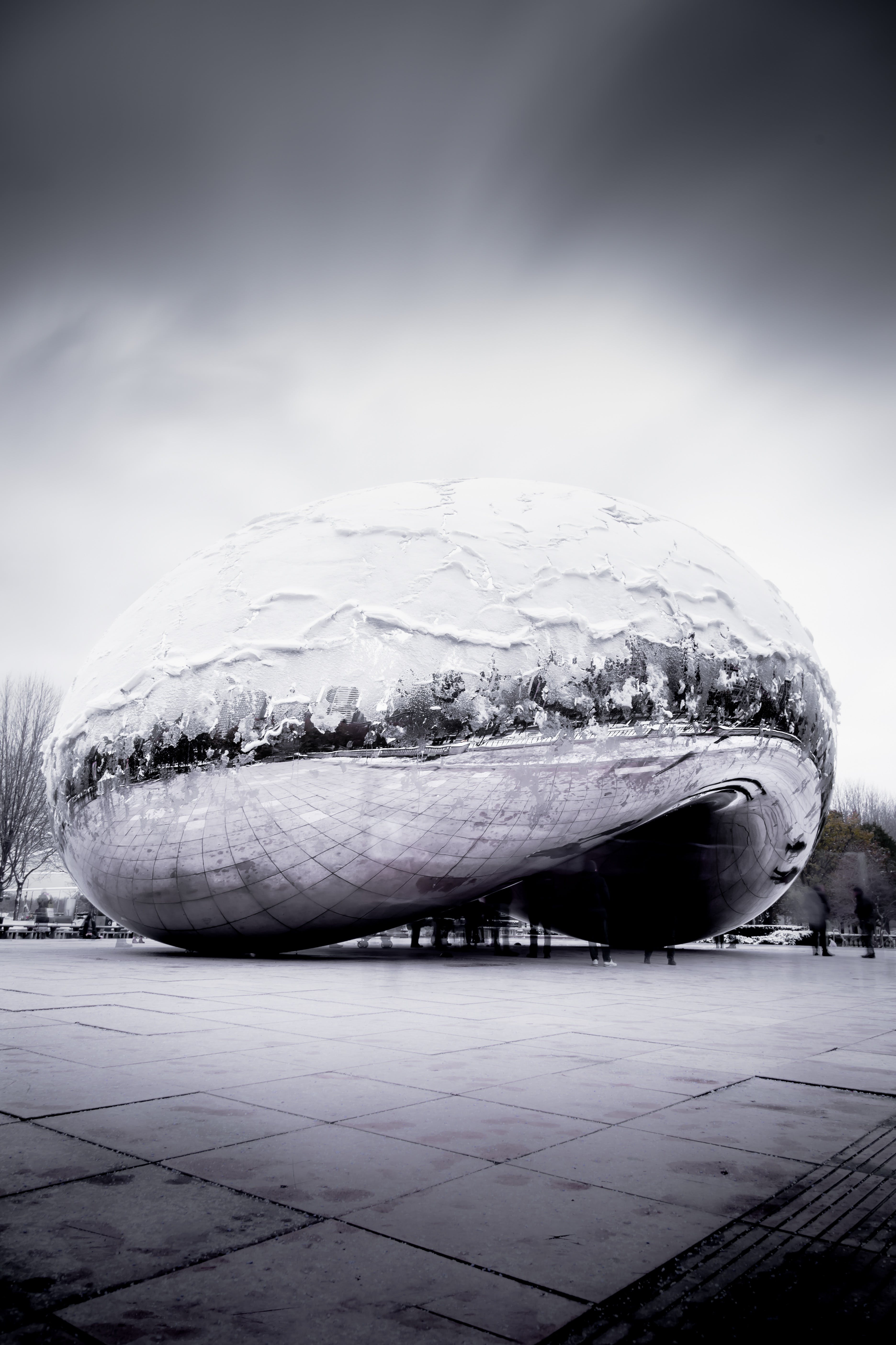 Grayscale Photography Of Cloud Gate