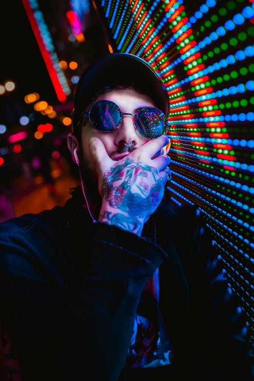 人, 墨鏡, 樣式, 燈光 的 免費圖庫相片