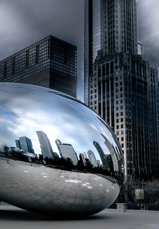 arquitectura, centre de la ciutat, chicago