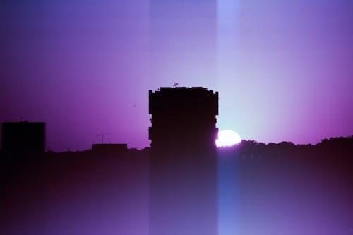 Gratis arkivbilde med by, soloppgang