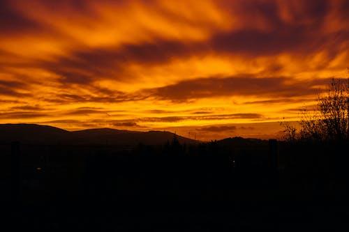 Základová fotografie zdarma na téma mraky, oblačno, obloha, oranžová