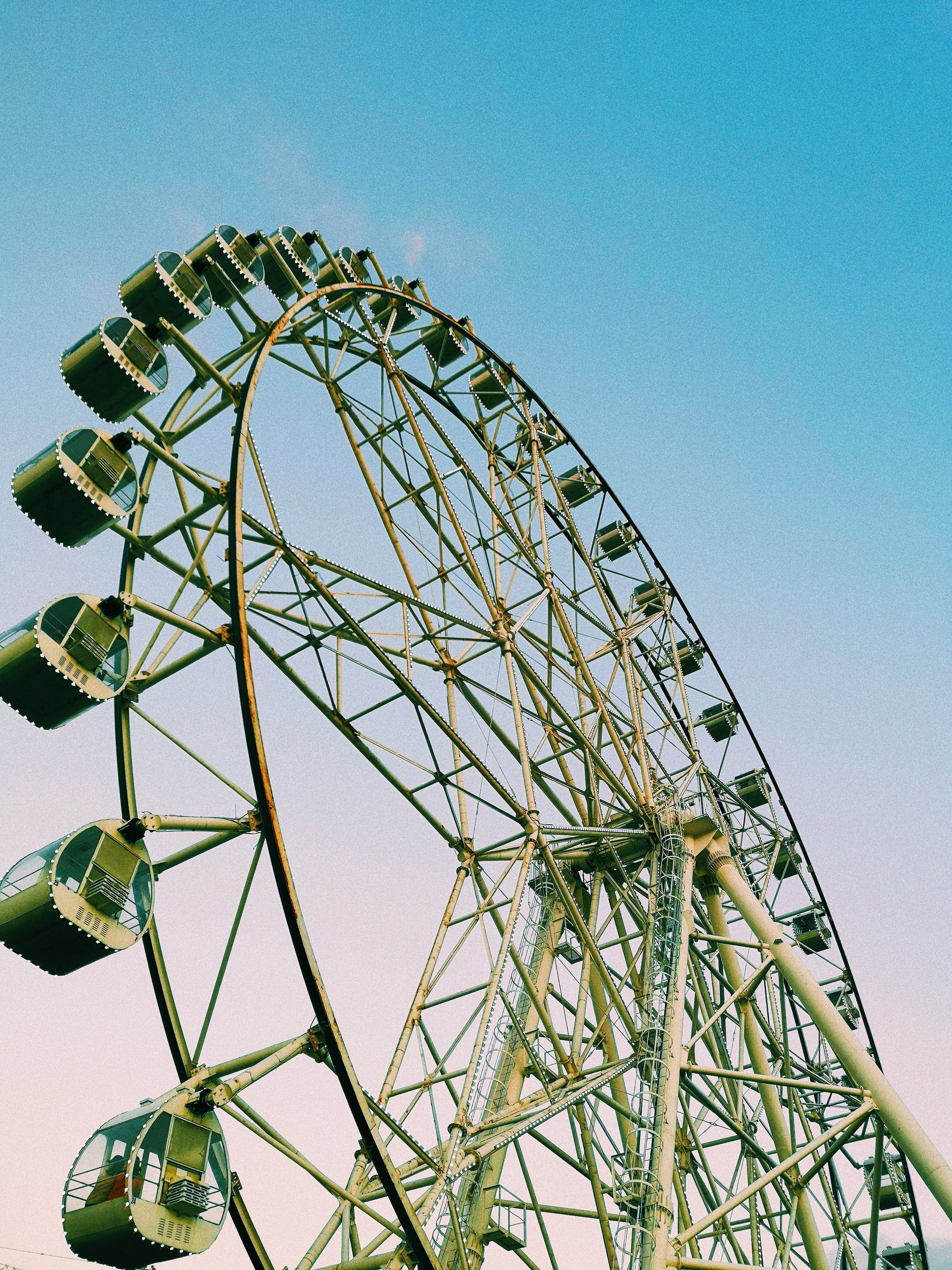 Close up Photograph of Ferris Wheel