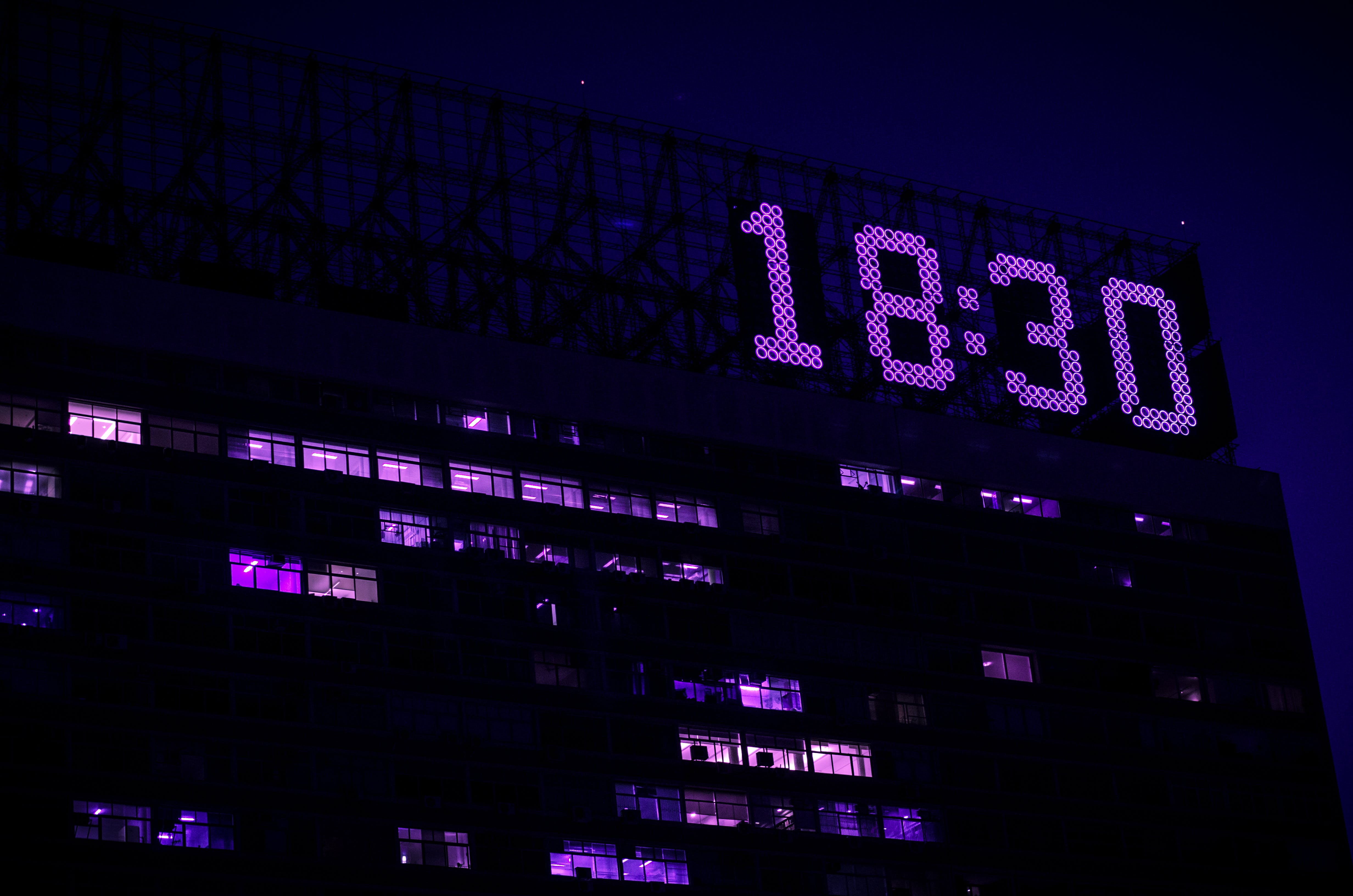 Time Displayed on Top of a Building