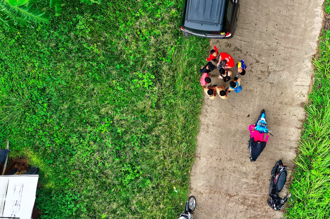 Top View Photo of People