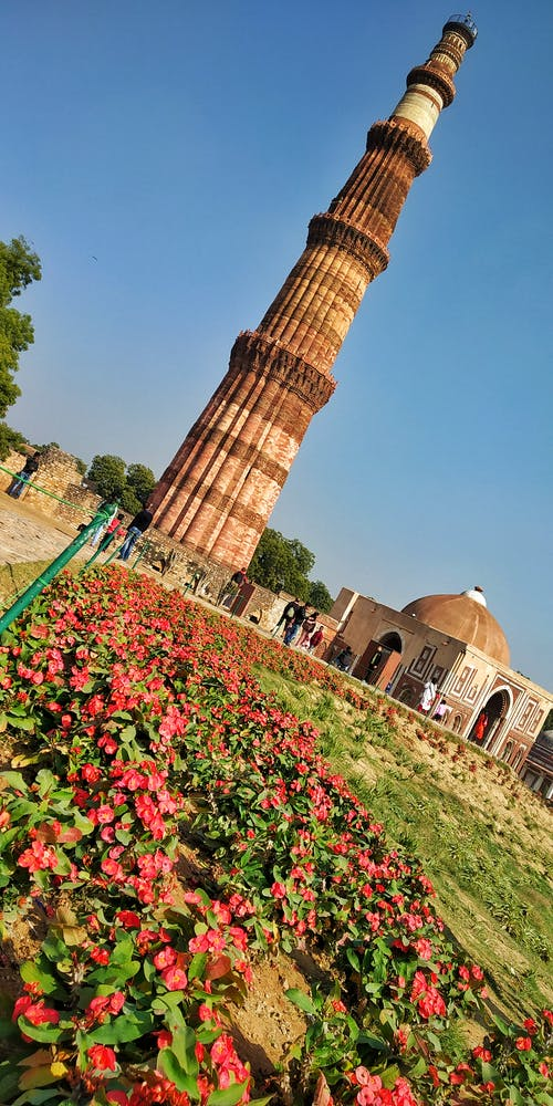 #qutabminar #indianarchtectureの無料の写真素材