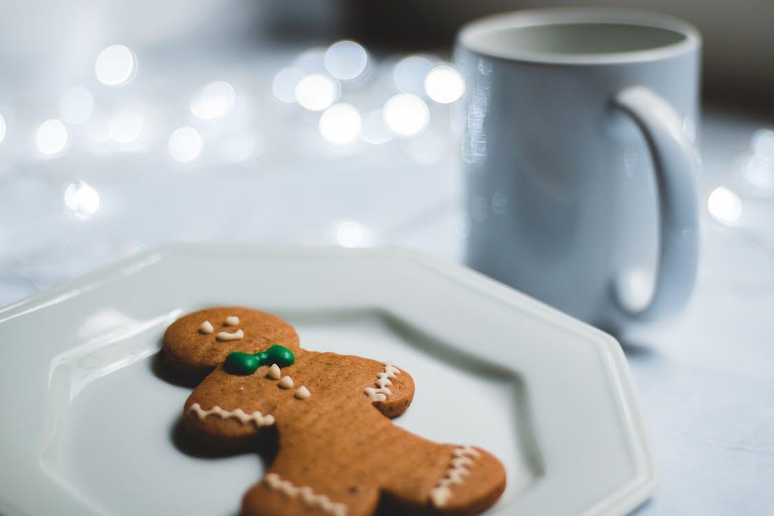 bánh gừng, bánh quy, cà phê