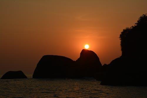 Ingyenes stockfotó drámai ég, esti ég, naplemente, naplemente strand témában