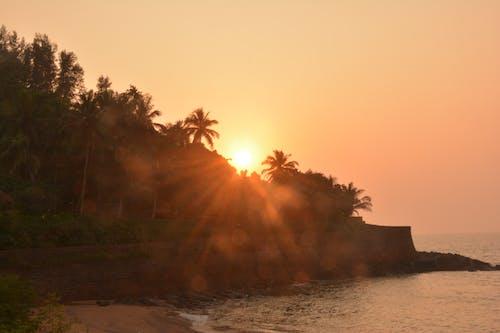 Ingyenes stockfotó 4k-háttérkép, esti nap, naplemente, naplemente strand témában