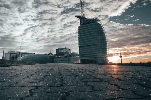 Kostenloses Stock Foto zu city-challenge, goldene sonne, skyline