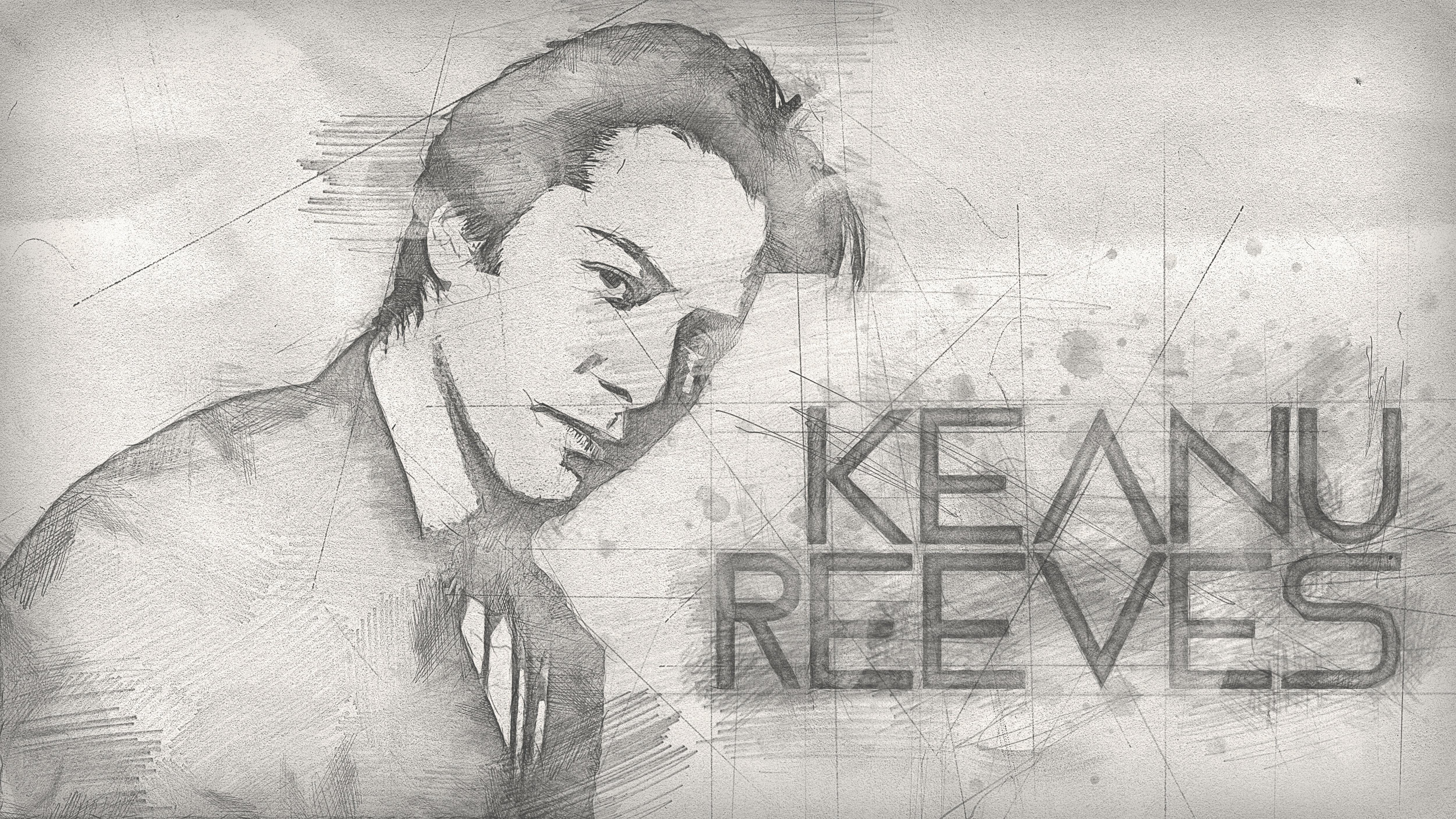 Foto Stok Gratis Tentang Keanu Reeves Latar Belakang Pensil