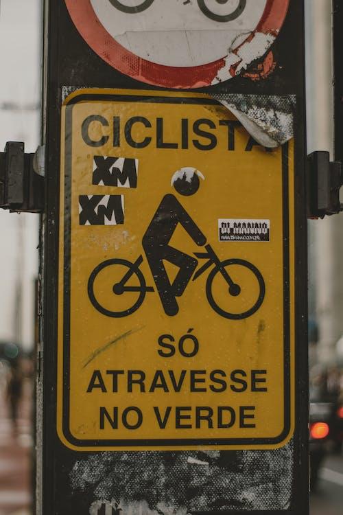 Ảnh lưu trữ miễn phí về cảnh báo, ký tên, người đi xe đạp, Xe đạp
