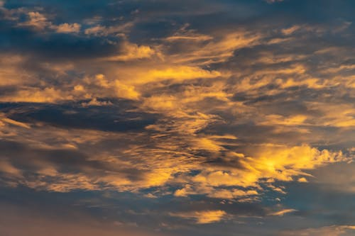 Grey Cloudy Sky during Sunset