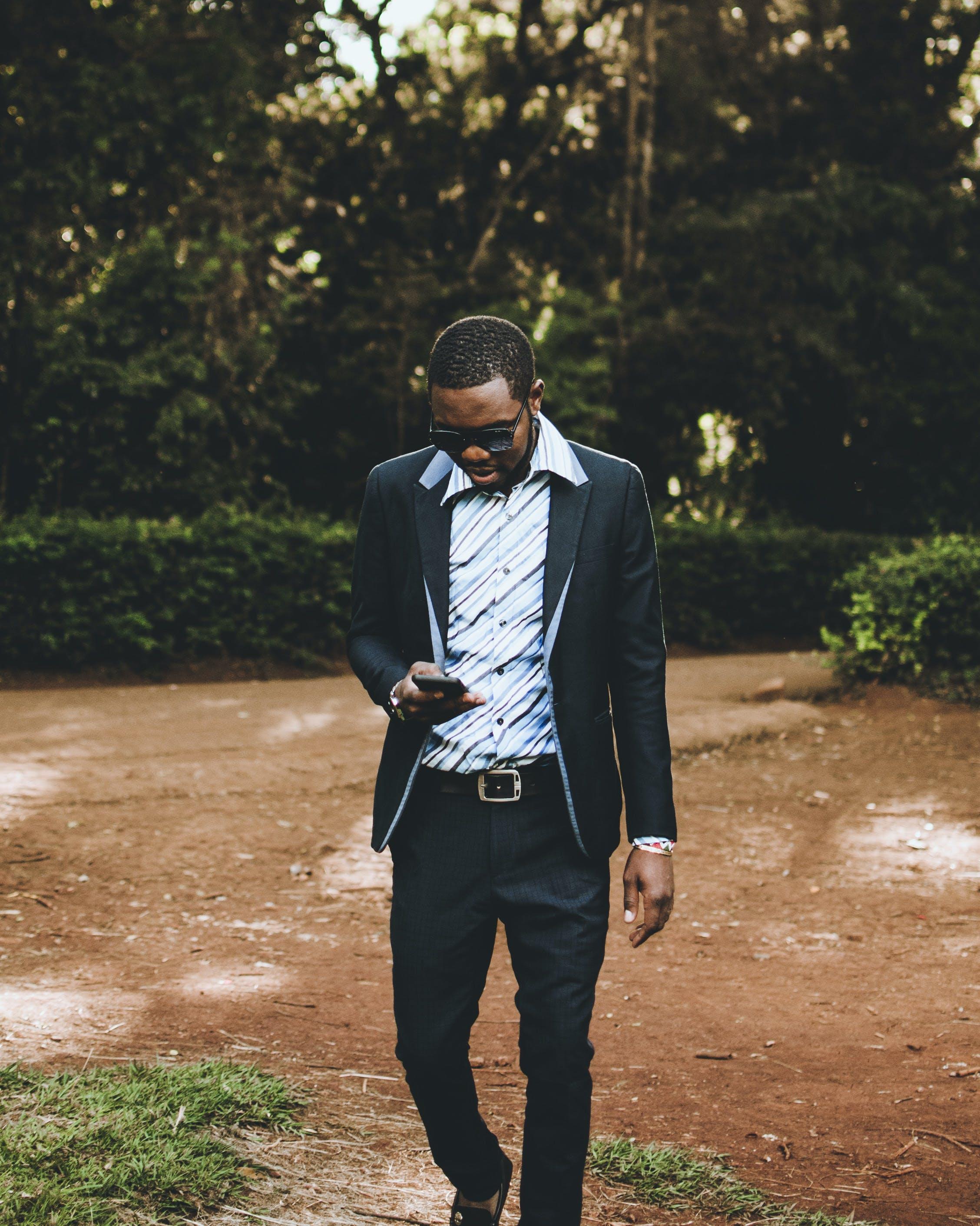 Kostenloses Stock Foto zu afrikanischer mann, bart, black male, brillen