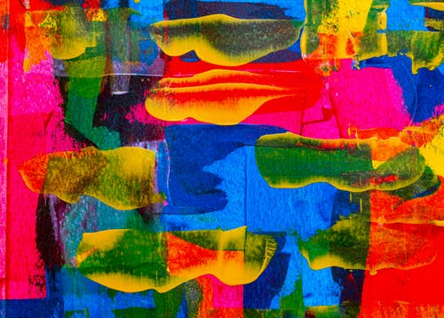 Blue, Yellow, and Red Abstract Painting
