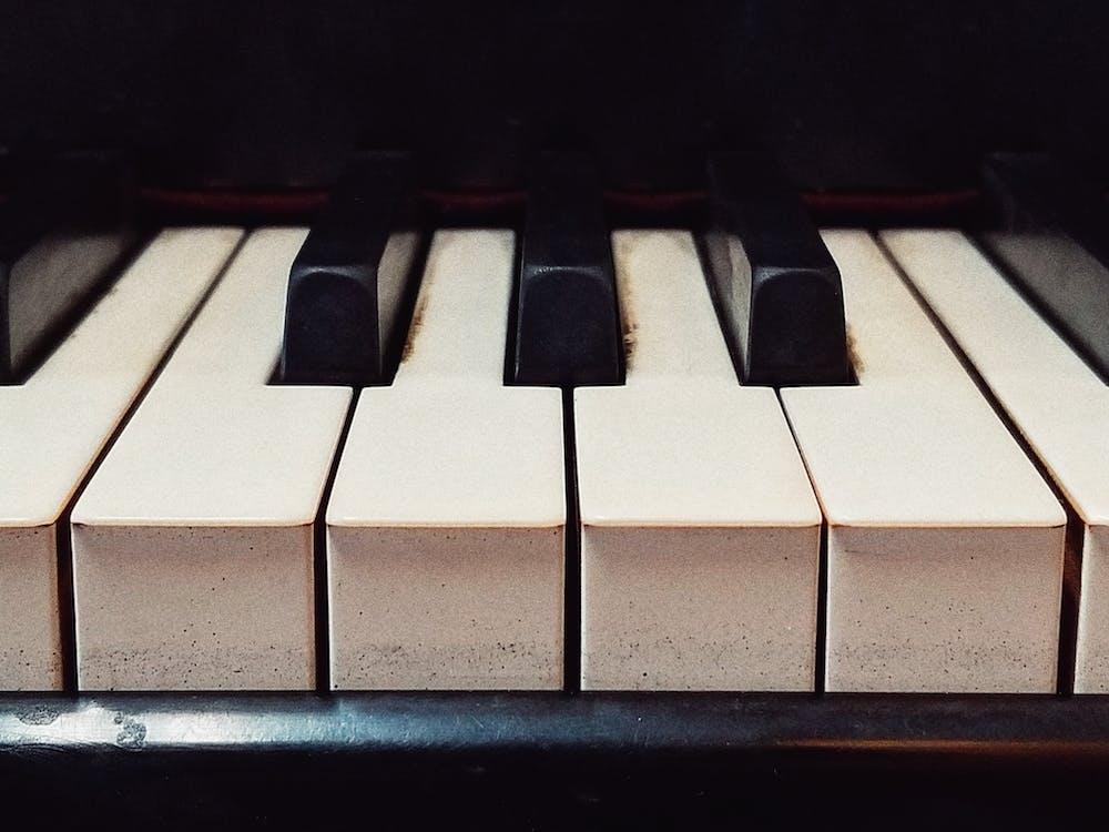 müzik, piyano, siyah ve beyaz