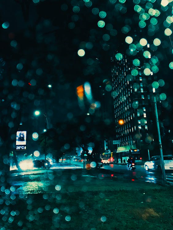 Bokeh Photography of Buildings during Nighttime