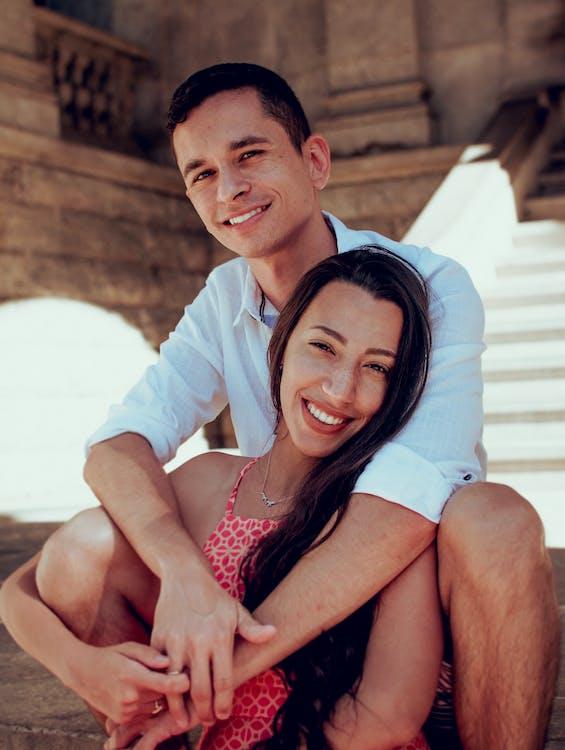 aantrekkelijk mooi, affectie, Aziatisch stel