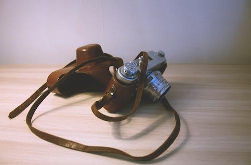 Free stock photo of analog camera, Analogue, camera, leather