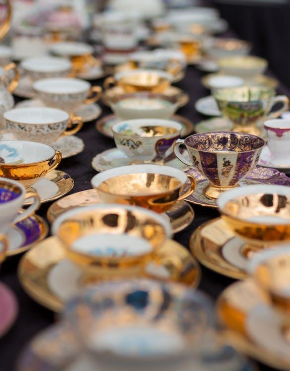 blší trh, čaj, káva