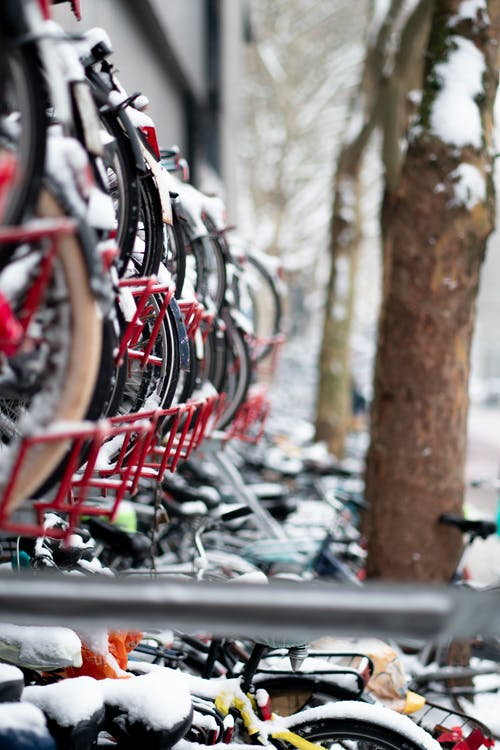 Free stock photo of bike rack, bike storage, city, college