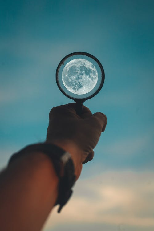 Free stock photo of focus on the moon, moon