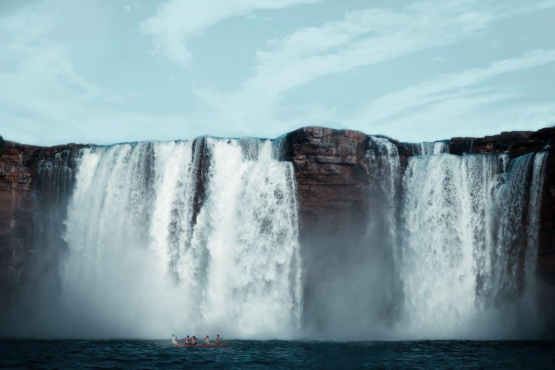 acqua, cade, cascata