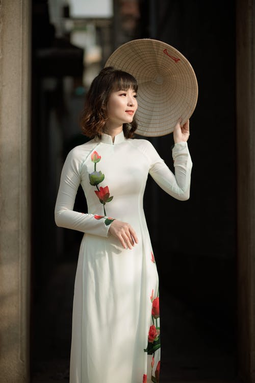 ほほえむ, ぼかし, アジアの女性