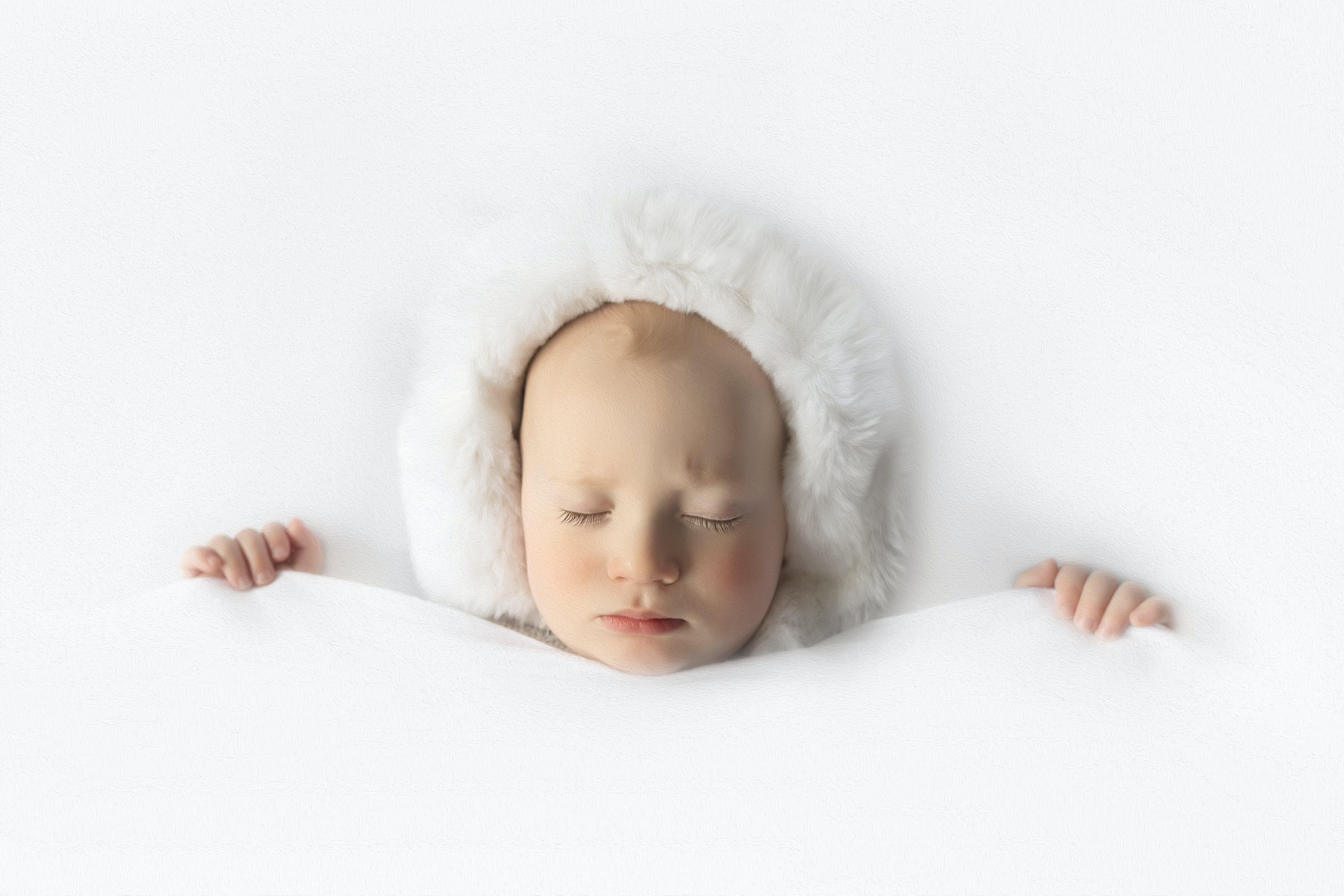 Free stock photo of baby, eskimo, sleeping