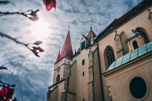 Free stock photo of architecture, blue sky, church, city