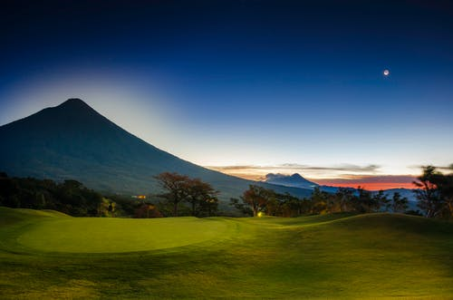 Free stock photo of agua volcano, blue sky, golf, guatemala