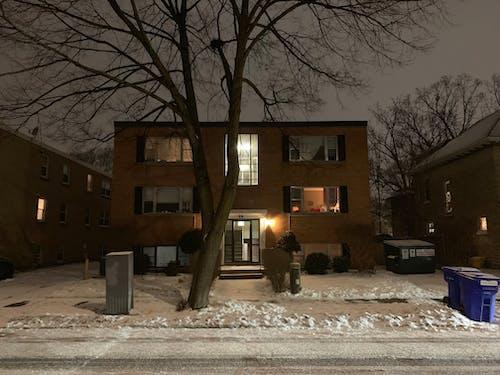 Free stock photo of apartment, night, street