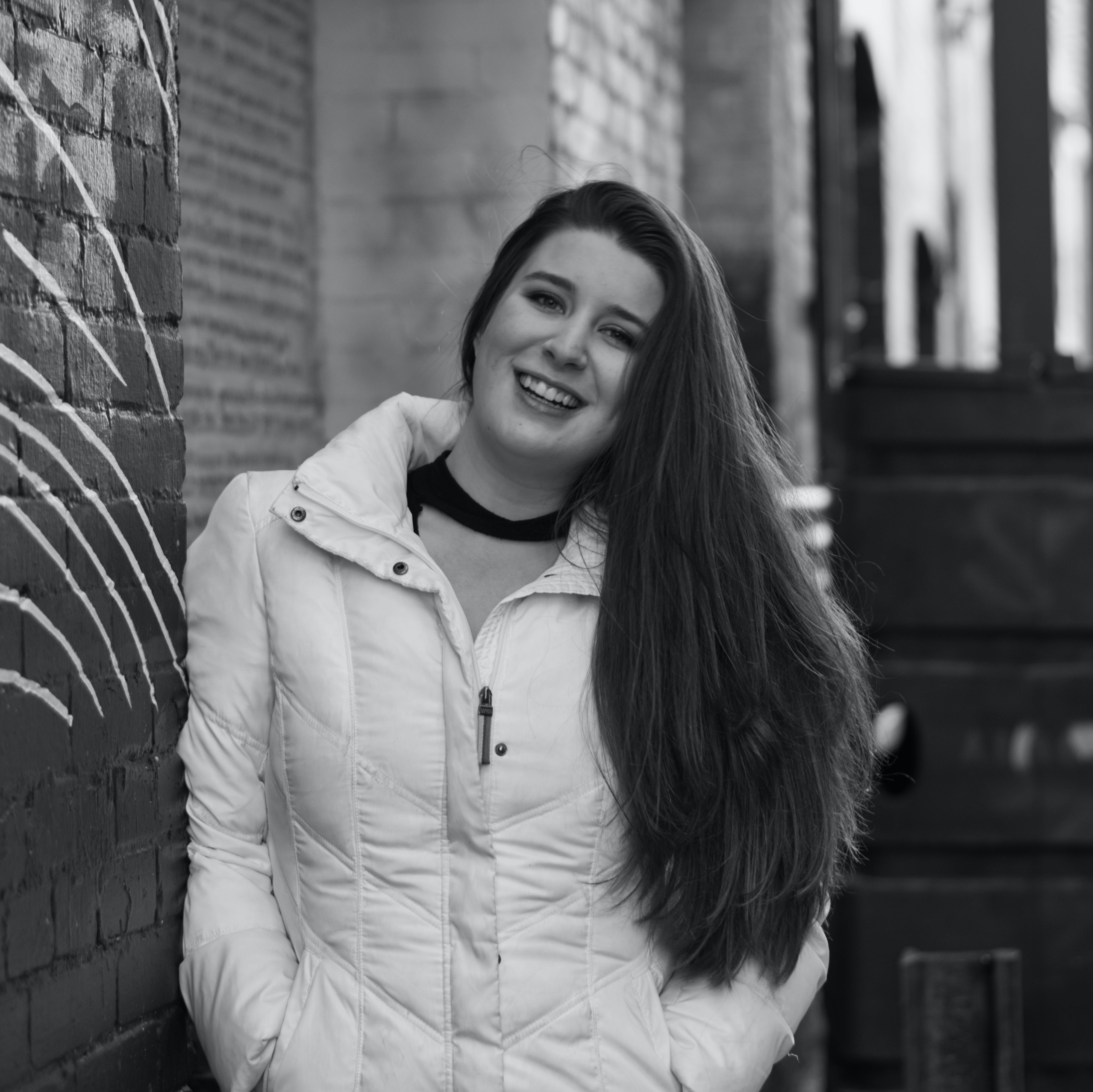 Free stock photo of alley, black and white, girl, woman