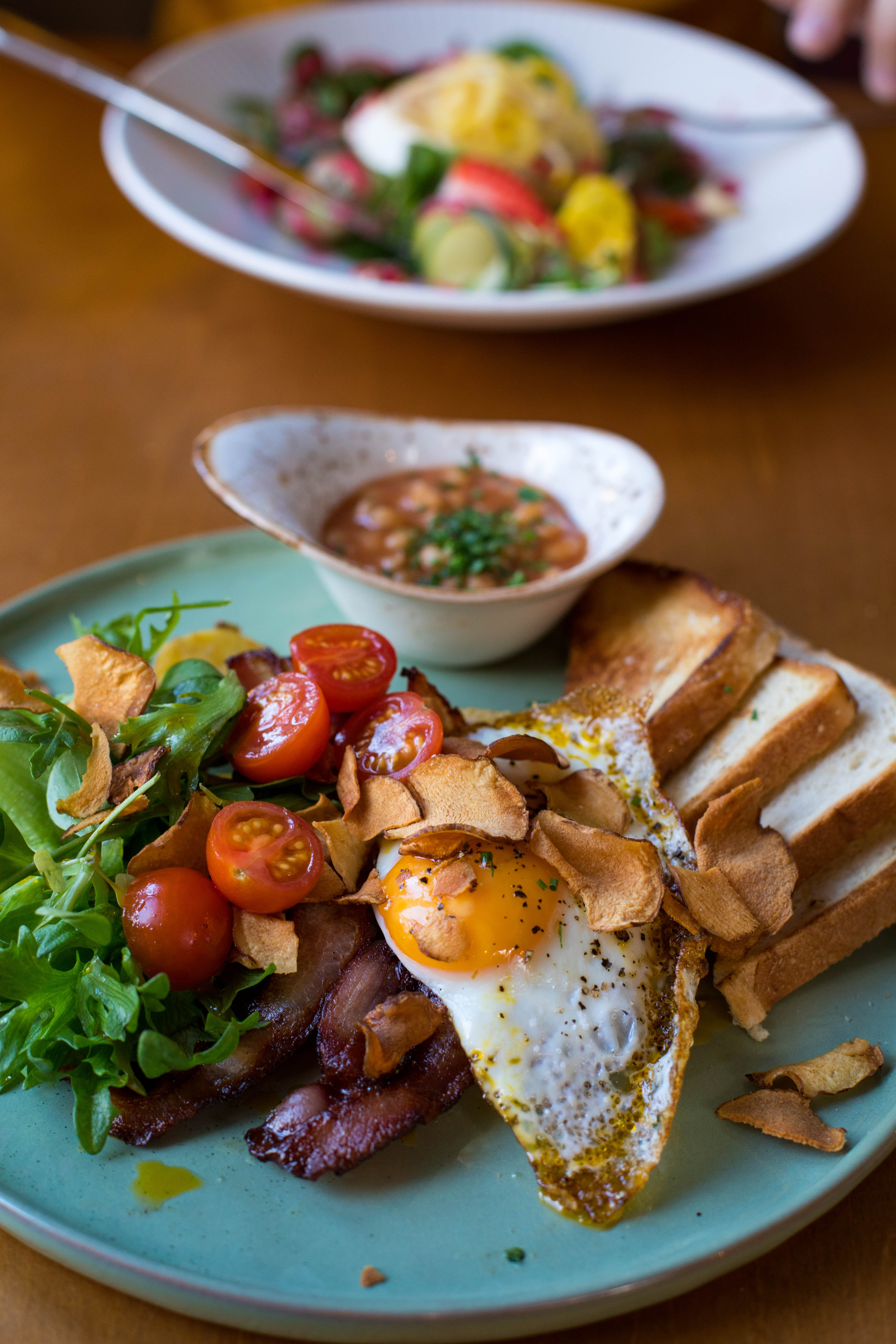 Tomatoes With Egg on Plate