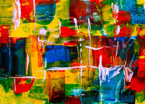 Assorted-color Abstract Painting