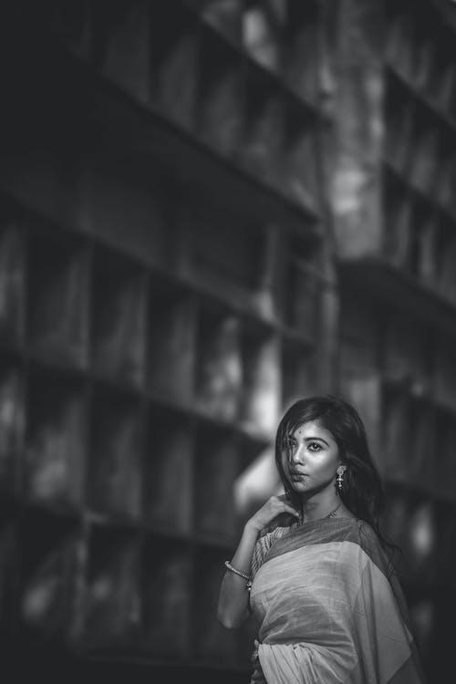 Foto d'estoc gratuïta de asiàtica, atractiu, bellesa, blanc i negre