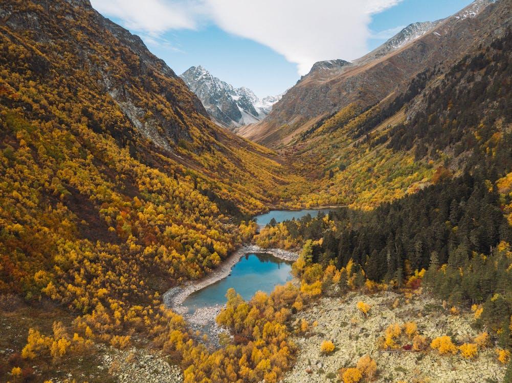 4k-baggrund, bjerge, bjergkæde