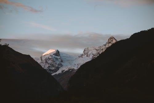 Photo Of Snow Capped Mountain During Dawn