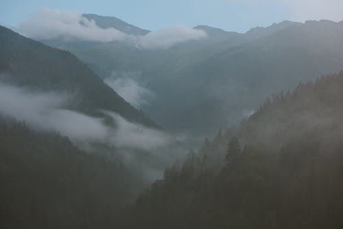 Photo of Mountains On A Foggy Day