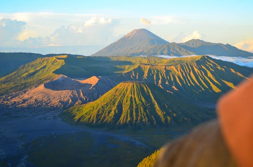 Amazing landscape of volcano Bromo in tropical highlands