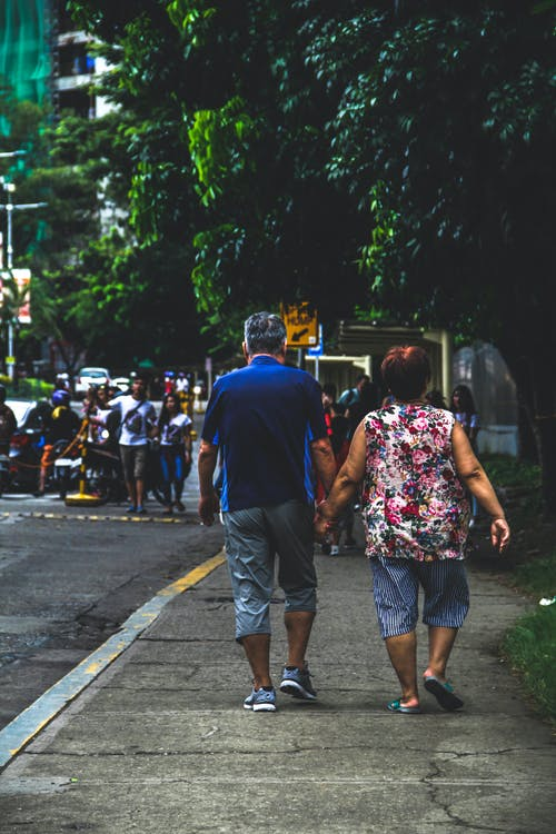Free stock photo of old lovers