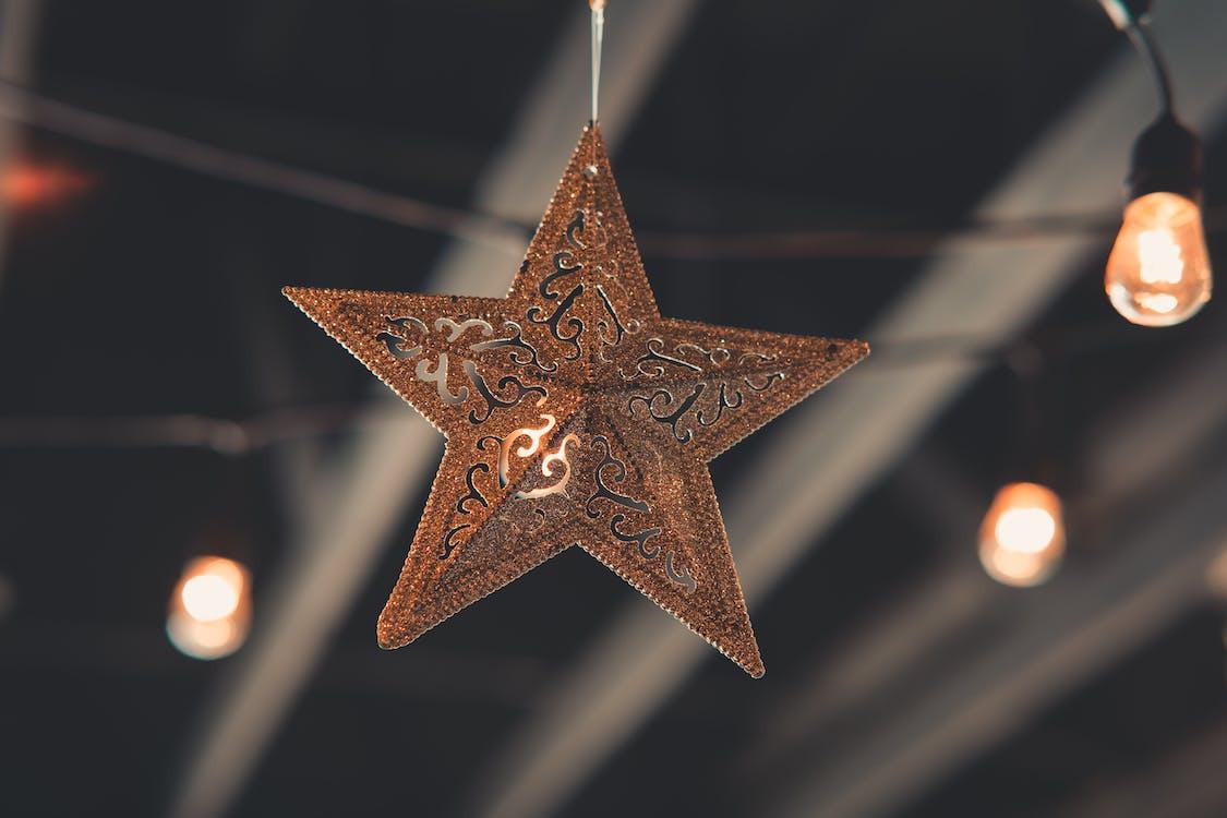 Brown Star Hanging Decor