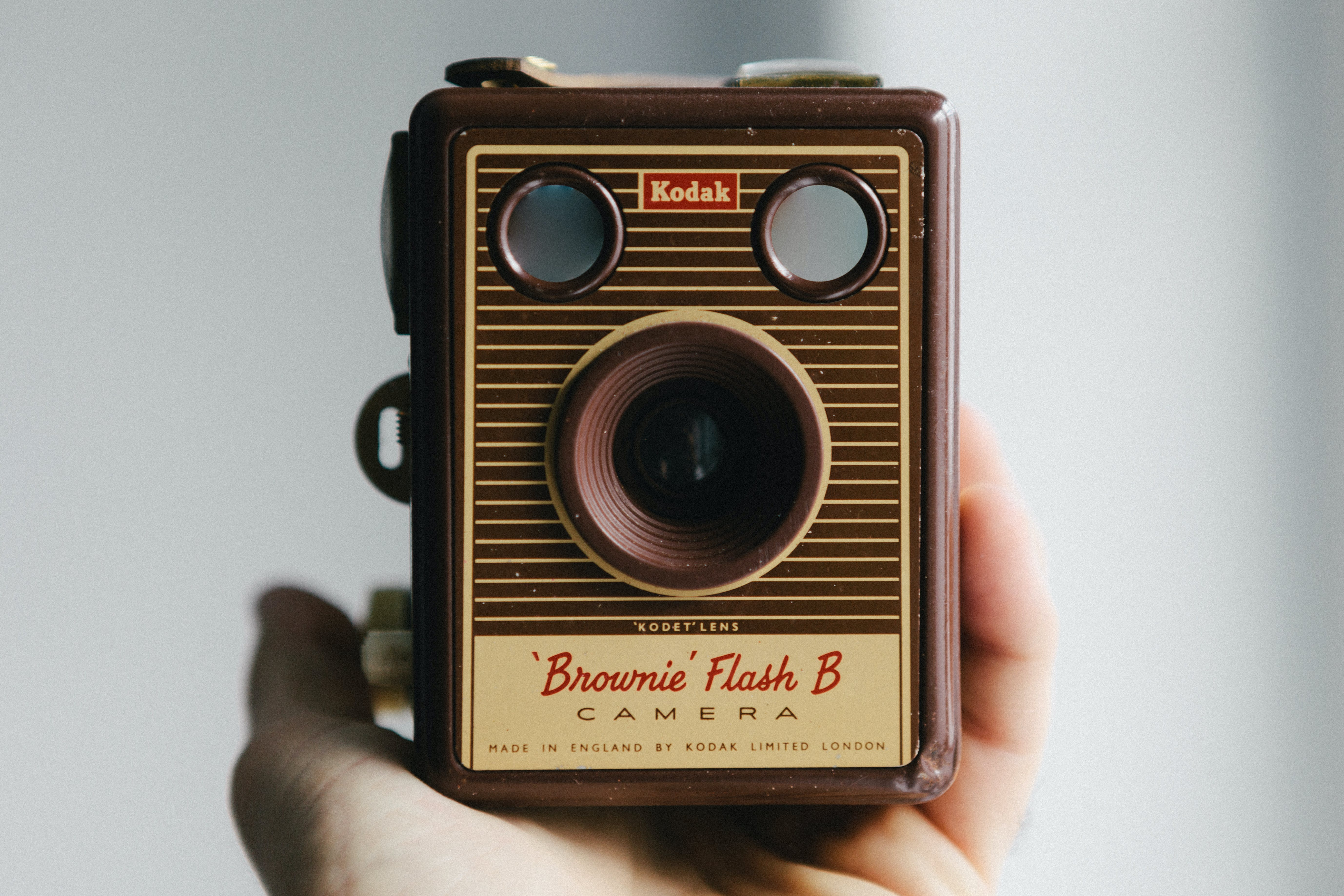 Person Holding Brownie Flash B Camera
