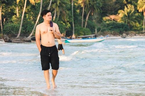 남자, 바다, 사람, 아시아 남자의 무료 스톡 사진